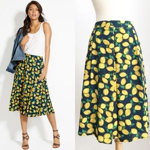The Limited Lemon 🍋 Skirt High Wasted Midi Skirt.